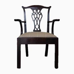 Eiche Armlehnstuhl aus 19. Jh.