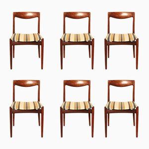 Danish Solid Rosewood Dining Chairs, 1960s, Set of 6