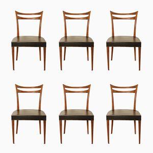 Esszimmerstühle aus massivem Palisander, 1960er, 6er Set