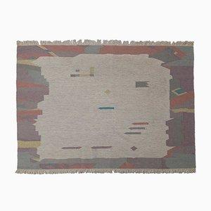 Tappeto vintage a tessitura piatta color pastello