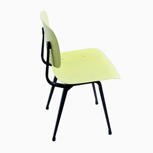 Revolt Chair in Black & Yellow in Ciranol by Friso Kramer for Ahrend De Cirkel, 1960s