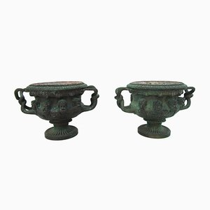 Antique Bronze Warwick Albani Planters from CD, Set of 2
