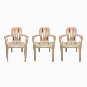 Boston Garden Chair by Pierre Paulin for Herny Massonnet / STAMP, 1980s, Set of 3