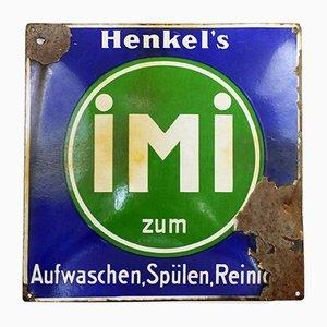 Vintage Emaille Henkel's Schild, 1930er