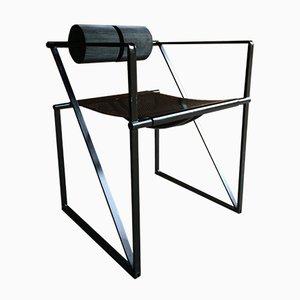 Mid-Century 602 Seconda Steel Chair by Mario Botta for Alias, 1982