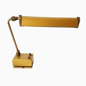 Lámpara de taller francesas de acero lacado en dorado de Mazda, años 50