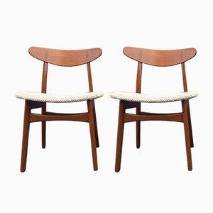 CH-30 Stühle aus Teak von Hans J. Wegner für Carl Hansen & Son, 1950er, 2er Set