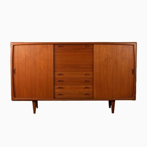 Teak Veneer Highboard from H.P. Hansen, 1960s