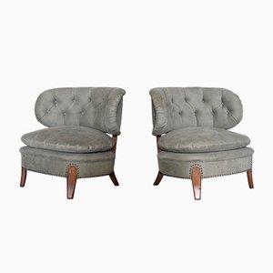 Vintage Sessel von Otto Schulz für Boet, 1940er, 2er Set