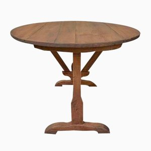 Antique Brown Wine Tasting Table