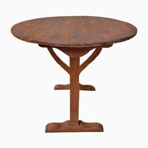 Antique Dark Brown Wine Tasting Table