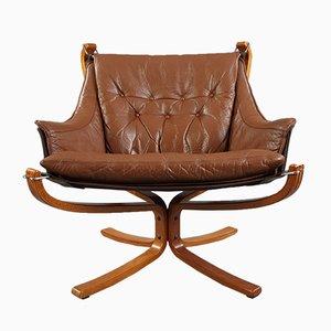 Poltrona Falcon di Sigurd Ressell per Vatne Furniture, anni '80