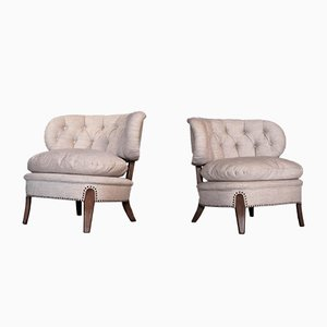 Vintage Lounge Chairs by Otto Schulz for Boet, 1940s, Set of 2