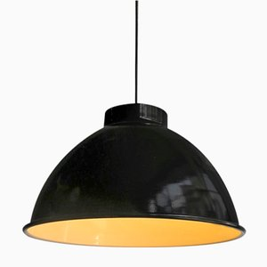 Grande Lampe à Suspension Indutrielle Noire
