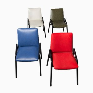 Französische Vintage Stühle, 1950er, 4er Set