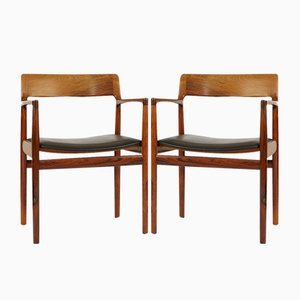 Fauteuils Mid-Century en Palissandre de Rodding Denmark Norgard Furniture Factory, Danemark, Set de 2