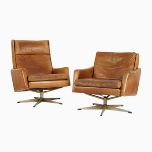 Leather Chairs, 1960s, Set of 2
