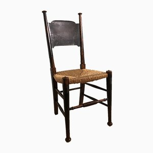Arts and Crafts Ebonized Oak Side Chair by William Birch, 1900s
