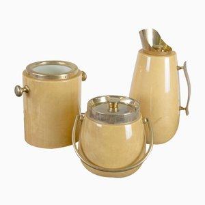 Italienischer Vintage Krug, Eiswürfelbehälter & Weinkühler von Aldo Tura