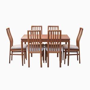 Dining Set by Kai Kristiansen for SVA Møbler, 1970s
