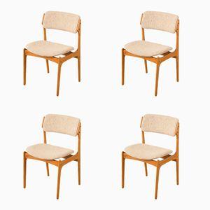 Chaises de O.D. Møbler, 1960s, Set de 4