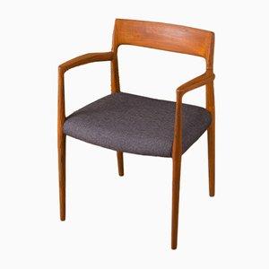 Chaise Modèle 57 par Niels O. Møller, 1950s
