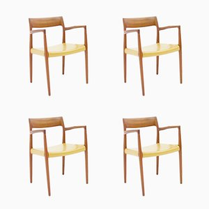 Teak Armchairs Model 57 by Niels Otto (N. O.) Møller for J.L. Møllers, Set of 4