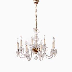 Lámpara de araña italiana vintage de cristal de Murano