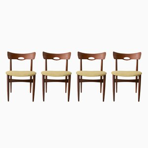 Mid-Century Teak Chairs by H.W. Klein for Bramin, Set of 4