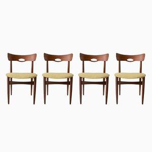 Mid-Century Teak Stühle von H.W. Klein für Bramin, 4er Set