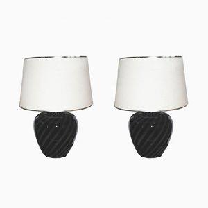 Lampes de Bureau Vintage en Verre de Murano par Paolo Venini, Set de 2