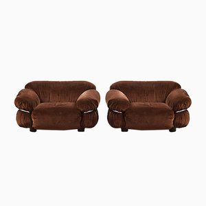 Vintage Sesann Armlehnstühle von Gianfranco Frattini für Cassina, 2er Set