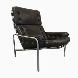 Mid-Century SZ09 Nagoya Leather Easy Chair by Martin Visser for 't Spectrum