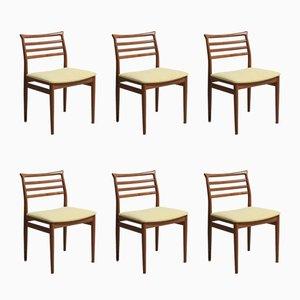 Chaises de Salon Vintage en Teck par Erling Torvits pour Sorø Stolefabrik, Set de 6