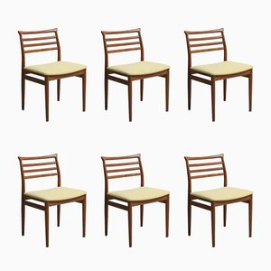 Vintage Teak Dining Chairs by Erling Torvits for Sorø Stolefabrik, Set of 6