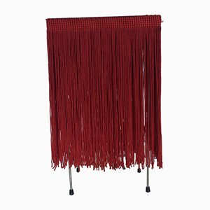 Vintage Spanish Red Fringe Table Lamp, 1970s