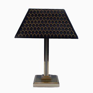 Italian Table Lamp with Chromed Base, 1970s