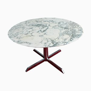 Marmor & Chrom Tisch von Florence Knoll für Roche Bobois, 1970er