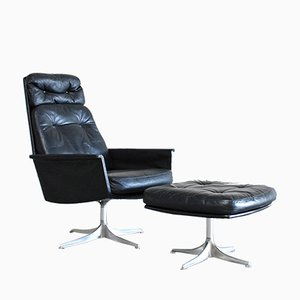 Model Sedia Swivel Lounge Chair and Ottoman by Horst Brüning for Cor, 1960s