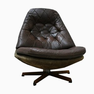 Leather Lounge Chair by Madsen & Schübel for Bovenkamp, ​​1970s