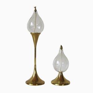 Vintage Oil Lamps by Freddie Andersen, 1970s, Set of 2