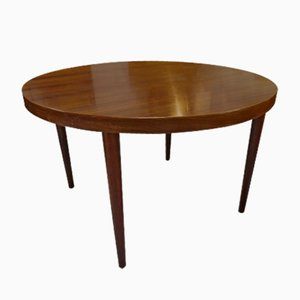 Vintage Extendable Round Table in Rosewood by Kai Kristiansen for Skovmand & Andersen
