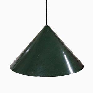 Grüne Vintage Hängelampe Lamp von Fog & Mørup
