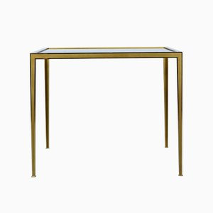 Brass Tables with Smoked Glass Tops from Vereinigte Werkstätten, 1960s, Set of 2