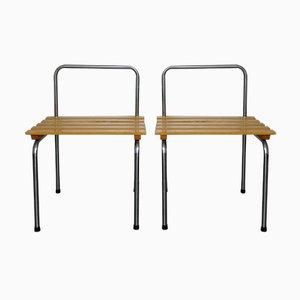 Tables d'Appoint Les Arcs en Acier Tubulaire par Charlotte Perriand, 1960s, Set de 2