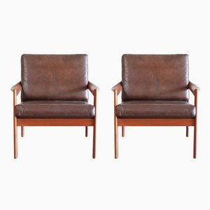 Vintage Leather Armchair by Illum Wikkelsø for Eilersen