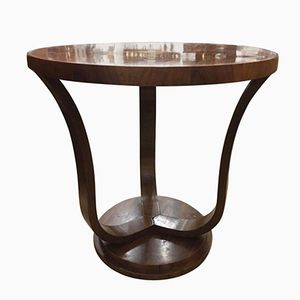Italian Art Deco Walnut Side Table, 1930s