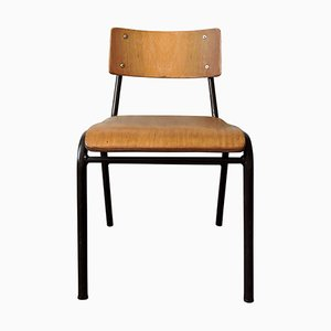 Vintage Portuguese School Chair, 1970s
