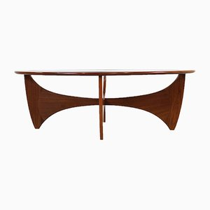 Tavolino da caffè ovale Astro in teak di V. Wilkins per G-Plan, anni '70
