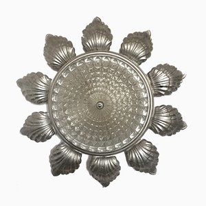 Vintage Sun Wall Sconce in Glass